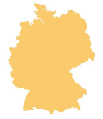 Deutschland - Umrisszeichung